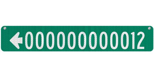 36 x 6 Sign with Arrow