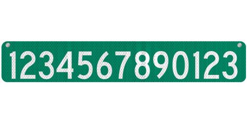 36 x 6 911 Address Sign