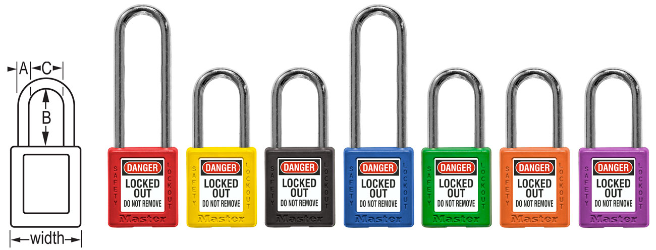 Master Lock 410 Thermoplastic Safety Padlock Series 410RED C3865