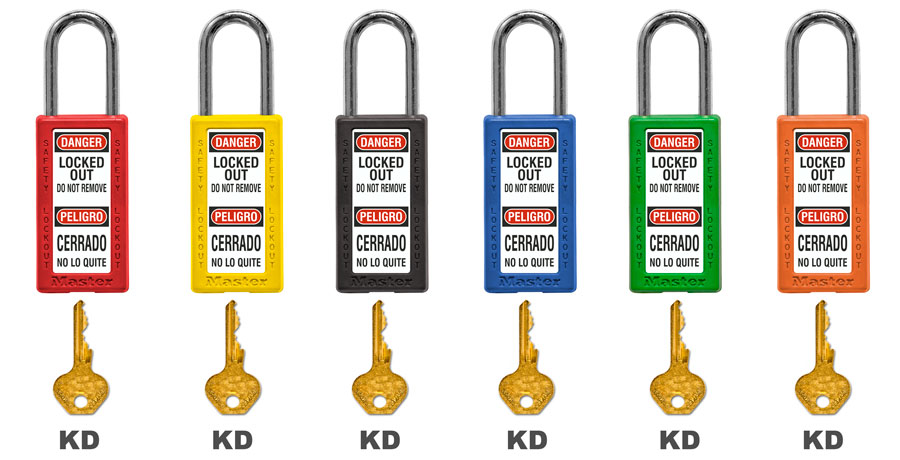 Master Lock Bilingual Keyed Different Safety Padlock 411RED C3879