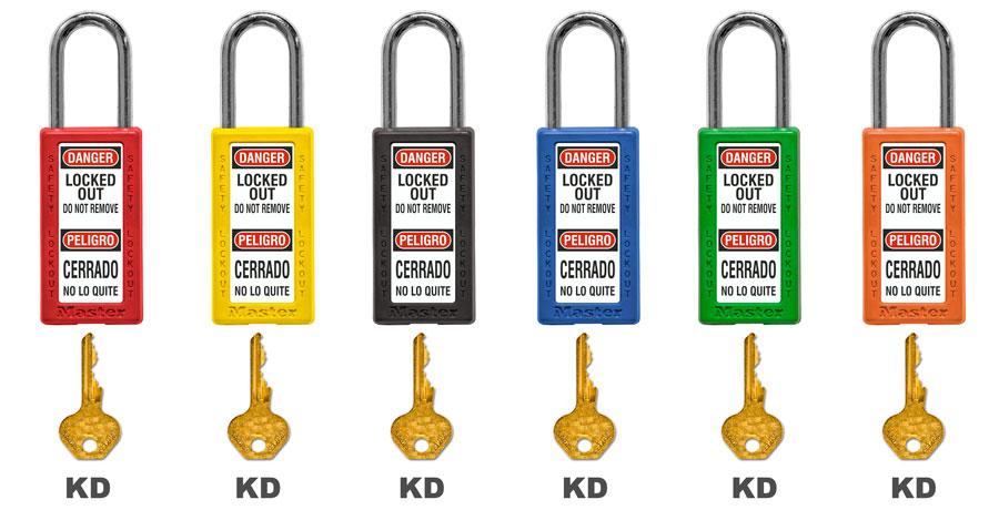 Master Lock Bilingual Keyed Alike Safety Padlock 411RED C3879