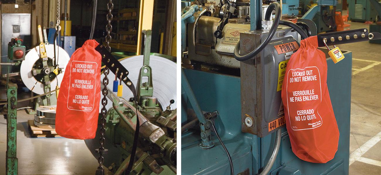 Oversize Plug and Hoist Lockout Bag Application