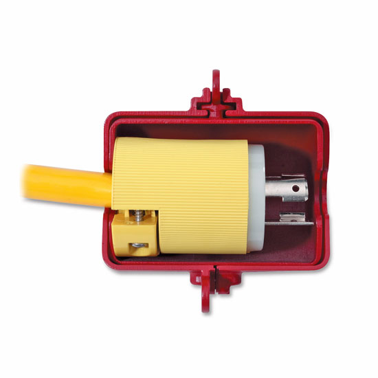 Electrical Plug Lockout Application Master Lock 487 and 488