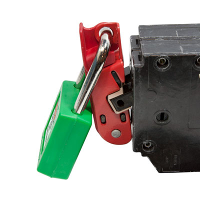 120 and 240 Volt Circuit Breaker Lockout