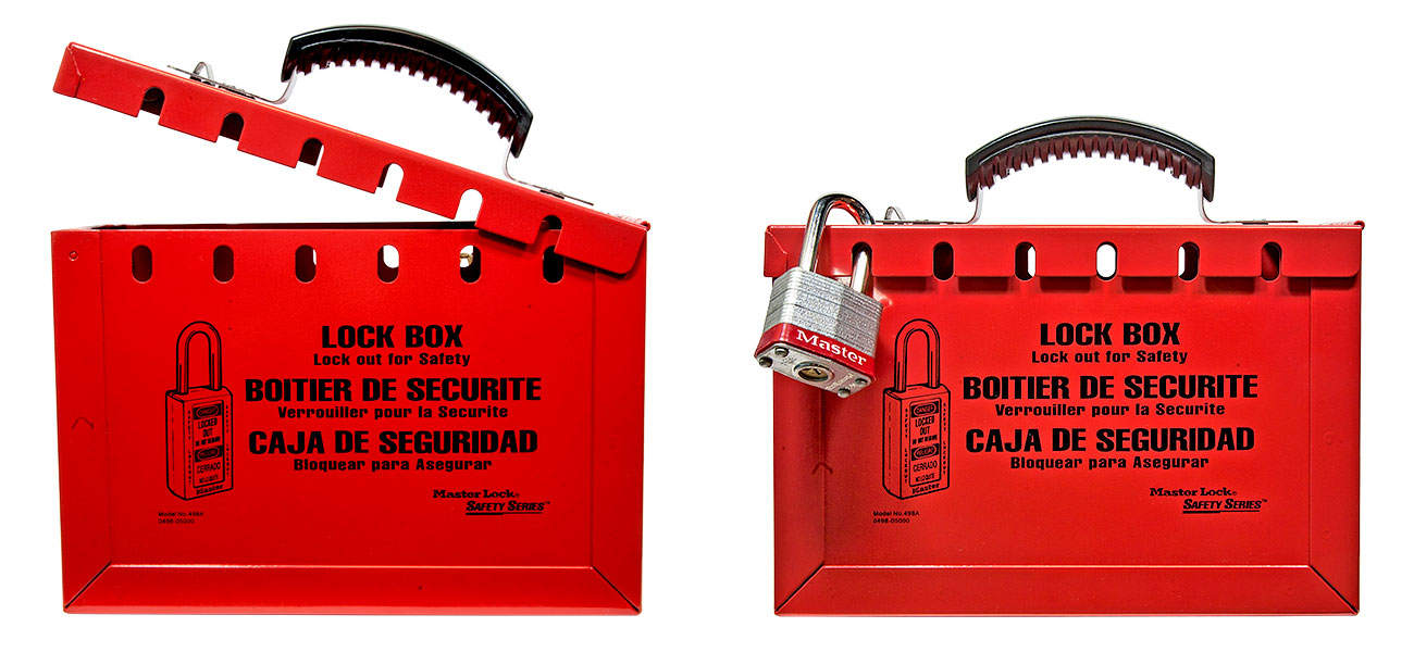 Master Lock Portable Group Lock Out Box 498A C3109