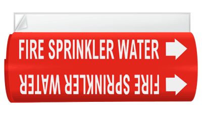 Illust. Of system 4 wrap around pipe marker