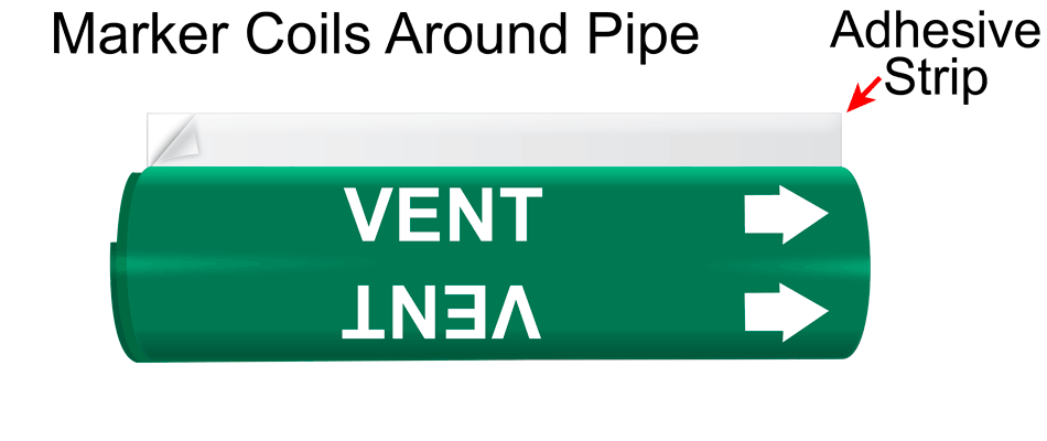 System 4 wrap around pipe marker