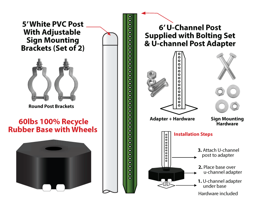 Base Configuration / Installation & Mounting Hardware