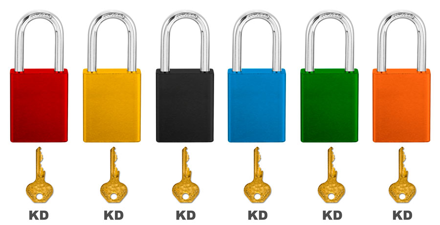 Master Lock Red Keyed Different Steel Padlock 6835 C3821
