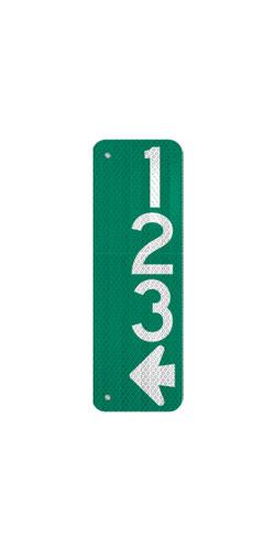 6 x 18 Sign with Arrow