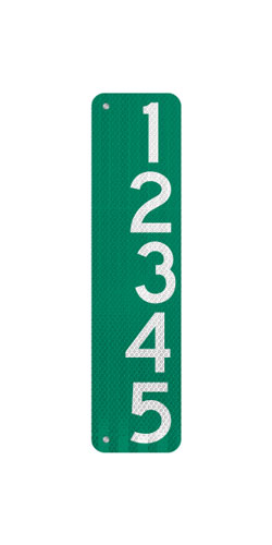 6 x 24 911 Address Sign