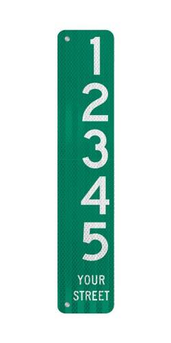 6 x 30 Sign with Arrow