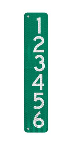 6 x 30 911 Address Sign