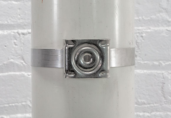 Photo of mounted sign bracket