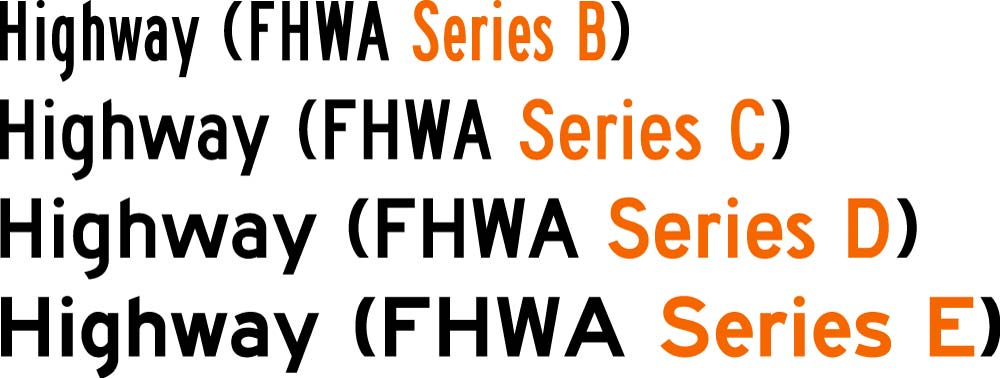 FHWA Series Fonts for 911 Address Signs