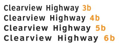 SafetySign.com 911 Address Sign Fonts
