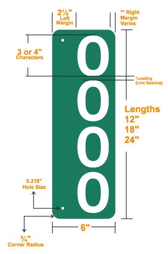 911 address signs vertical sign details