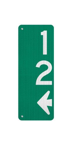 9 x 24 Sign with Arrow