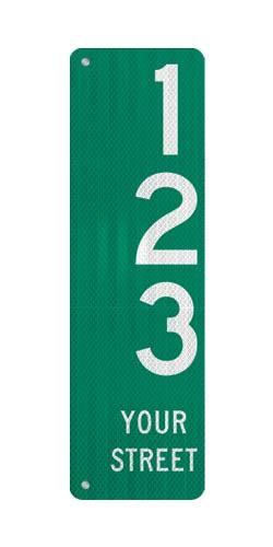 9 x 36 Sign with Arrow