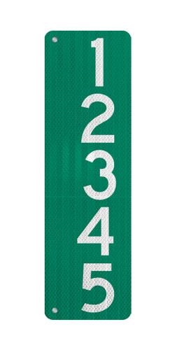 9 x 36 911 Address Sign