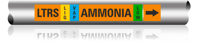 Illust. of Ammonia Marker for Pipe OD of .75 to 2 inches