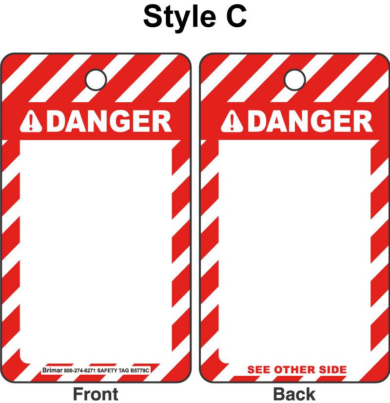 ANSI Z535 Danger Tag