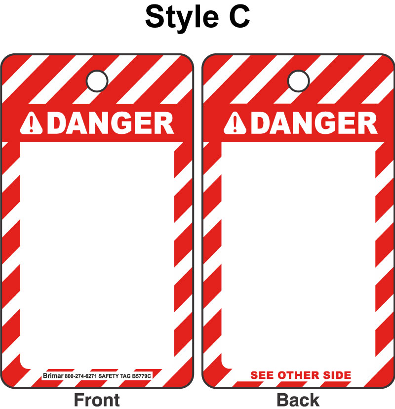 ANSI Z535 Danger Tag