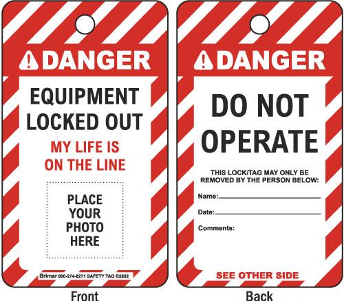 Danger Equipment Lockout Tag