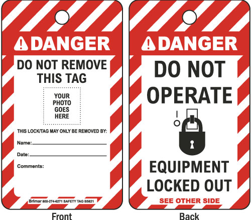Danger Equipment Lockout Tag