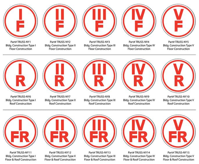 New York Truss Construction Signs