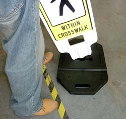 Pedestrian Crossing Panel Compliant Size Installation 1