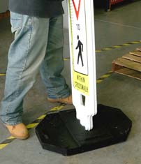 Pedestrian Crossing Panel Compliant Size Installation 2