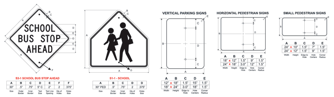 Pedestrian Crossing Signs Configuration