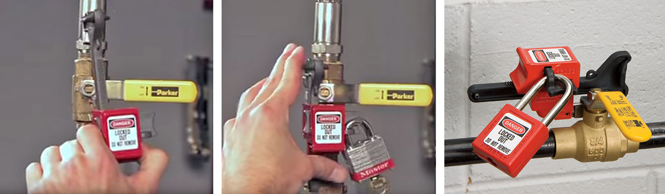 Handle-On Ball Valve Lockout Application S3068