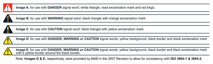 Custom Ansi Z5354 Iso 3864 2 Safety Label C5400l