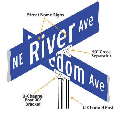 SafetySign.com Extruded Stree Name Signs