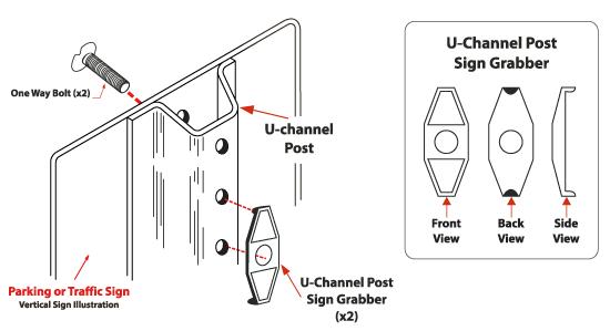 U-channel Post Sign Grabber