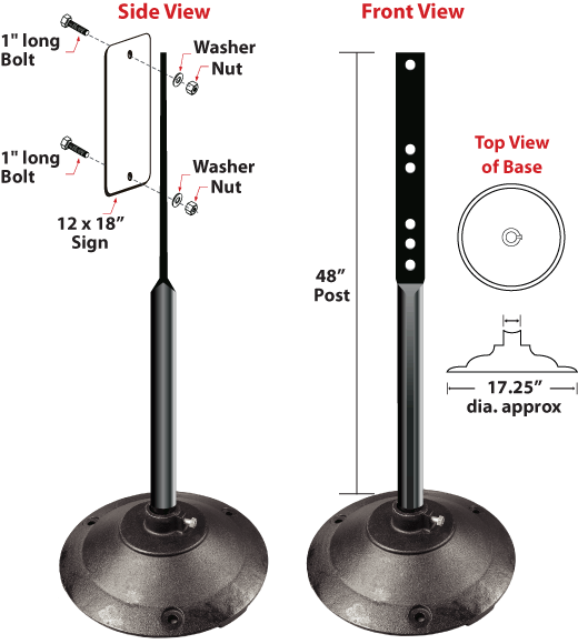 Black Sign Stand