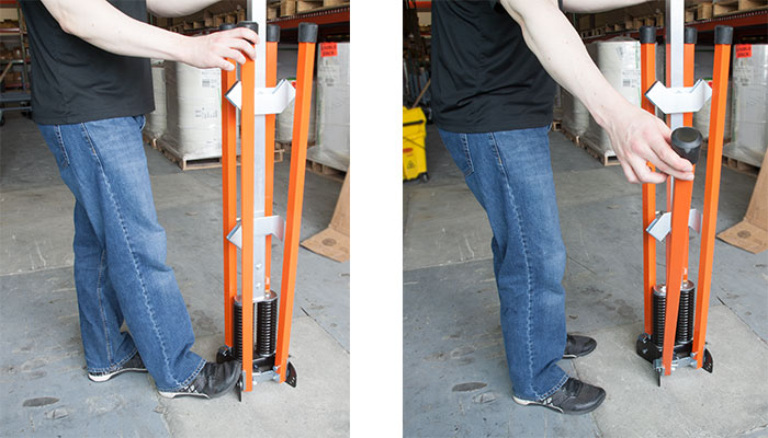 How to open the legs on the sign stand