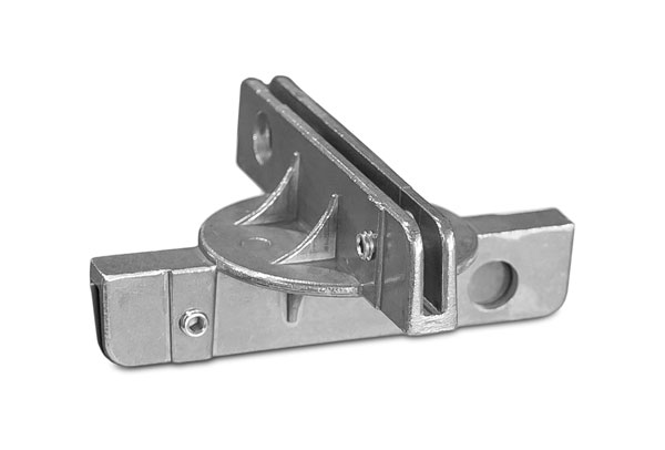 """Top view of the 5.5"""" fixed cross separator street name sign bracket"""