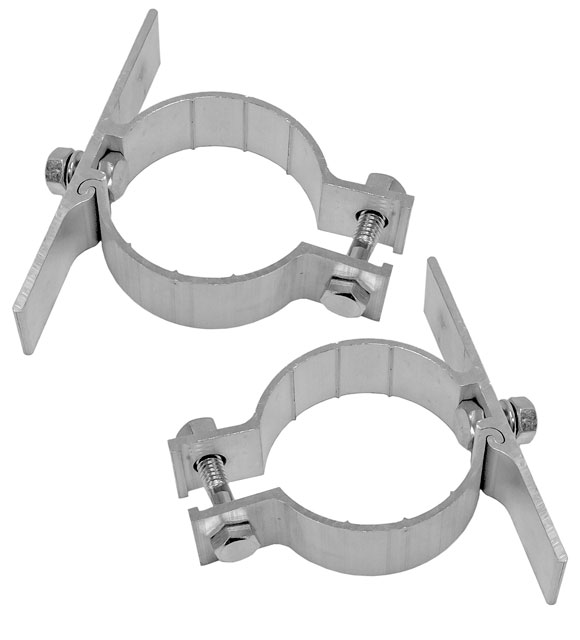 2 brackets plus sign mounting hardware