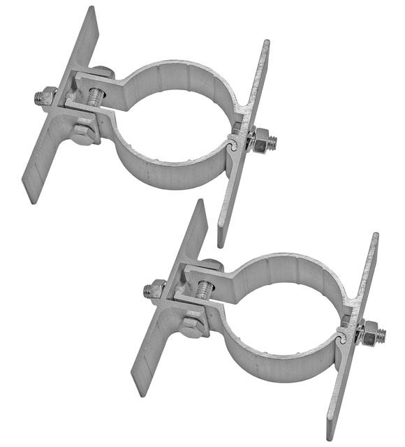 2 brackets plus sign mounting hardware provided