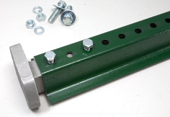 U-Channel post + adapter assembly is complete, proceed to attach it to the aluminum base