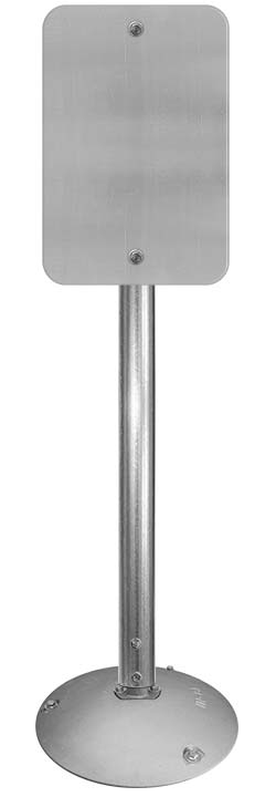 Aluminum Base with 2⅜″ Round Sign Posts