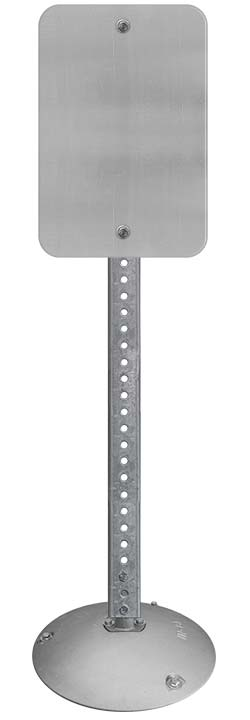 Aluminum Base with Square Sign Posts
