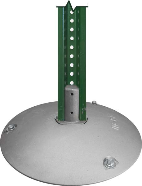 Aluminum Base with U-Channel Sign Post