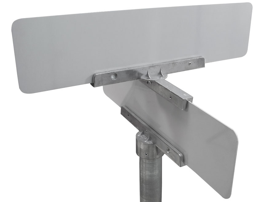 "Mounted 12"" cross separator street name bracket"