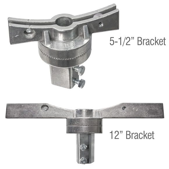 "Assembled 5.5"" and 12"" adjustable street name bracket"