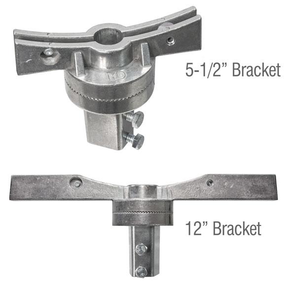 "Assembled 5.5"" and 12"" adjustable street name bracket"