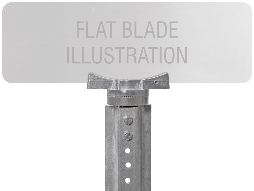 """Flat blade street name sign mounted on 5.5"""" adjustable street name bracket"""